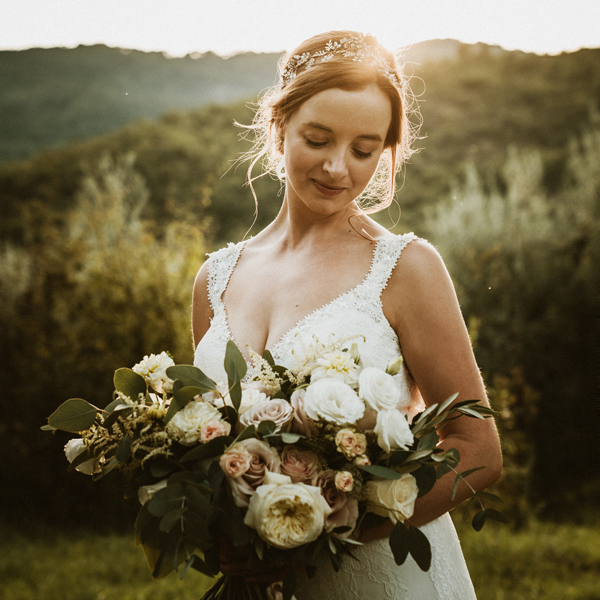 Two outdoor wedding photographers Tuscany Italy