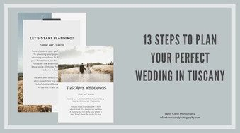 13 steps to plan your perfect wedding in Tuscany